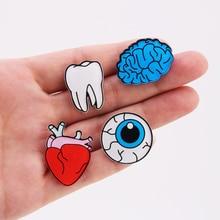 Корейская версия ювелирных изделий Цветные капли человеческого тела Броши мозговые глаза зуб брошь орган сердце значок