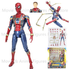 16cm New Mafex 081 Avengers Infinity War Iron Spider Action Figure Model Toys Doll Gift