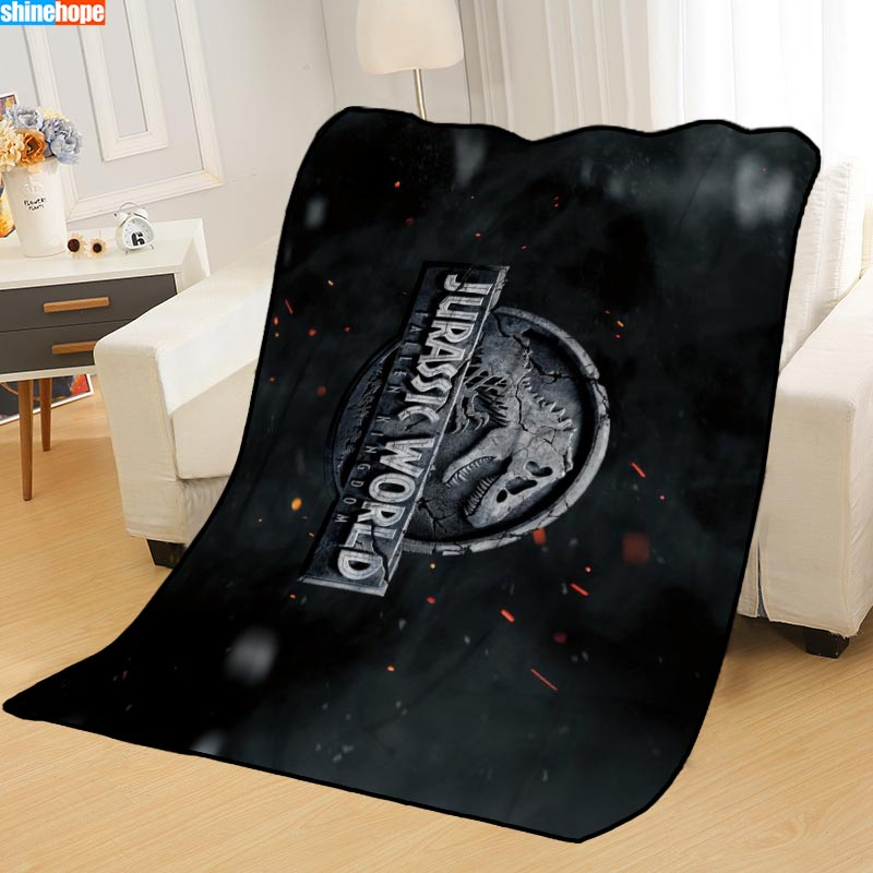 New Arrival Jurassic World Blankets Printing Soft Nap Blanket On Home/Sofa/Office Portable Travel Cover Blanket Throw     - title=