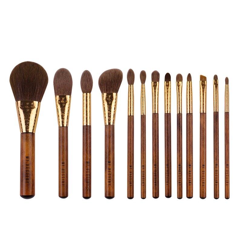 Кисти инструменты для макияжа mydeliance, щетки инструменты для макияжа/Rising Sun Серия 13, кисти высокого качества и косметические сумки из жаккардовой ткани|Аппликатор теней для век|   | АлиЭкспресс