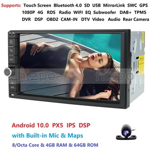 Image 1 - 4GRAM 64ROM 8Cores 7 Android 10.0 Auto Radio 2DIN Universal Car NO DVD player GPS Stereo Audio Head unit Support Bluetooth DAB