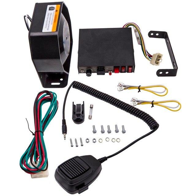 200W 8 dźwięk głośny ostrzeżenie samochodu Alarm pogotowia ruchu głośnik PA System mikrofonowy