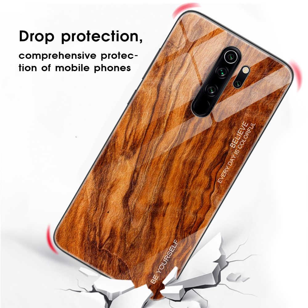 ไม้Grainโทรศัพท์กรณีสำหรับXiaomi Redmiหมายเหตุ 8 Pro Tempered GlassสำหรับXiaomi Mi 9T 9T Pro Redmiหมายเหตุ 6 7 8 Pro 8A Capa