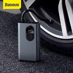 Baseus автомобильный воздушный компрессор надувной насос с светодиодный светильник для автомобиля Мотоцикл насос для велосипедных шин беспр...