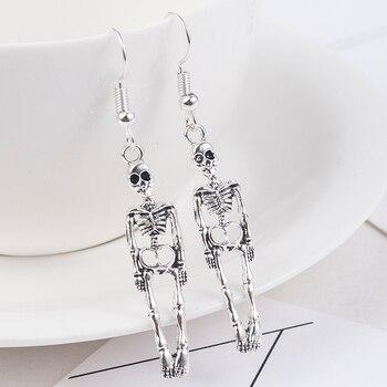 Halloween Vintage Skeleton Skull Dangle Earrings for Women Jewelry Party Gifts Aretes De Mujer Modernos 2019 3