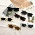 2021 женские маленькие прямоугольные Винтажные Солнцезащитные очки, брендовые дизайнерские очки в стиле ретро, женские квадратные очки с отт...