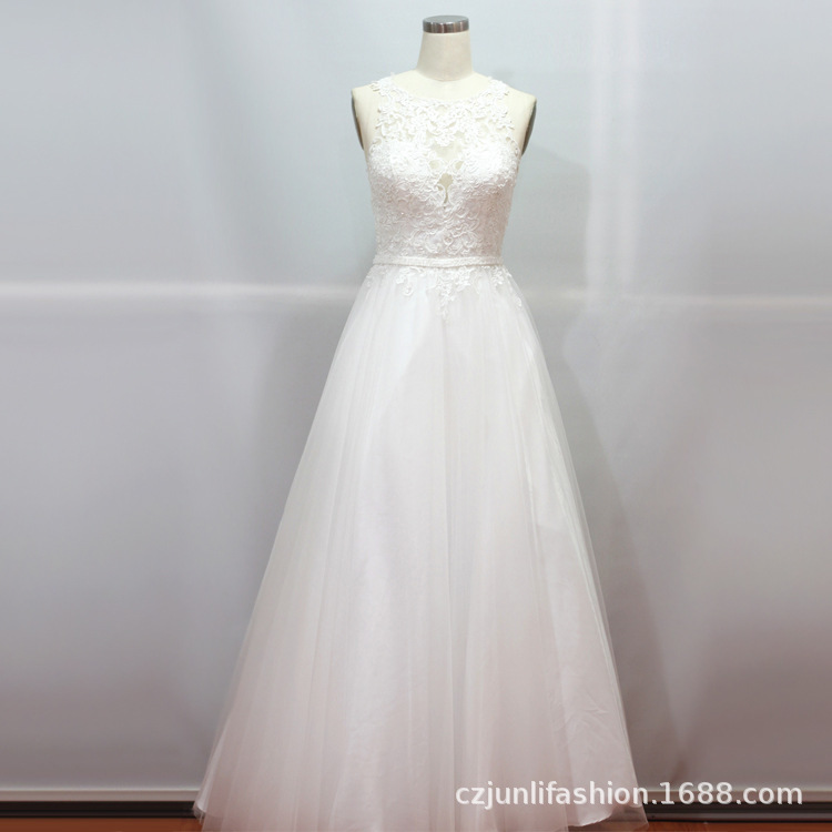 2020 New Arrival Rushed Strapless Sleeveless Watteau Train Robe De Cocktail Courte The Bride Wedding Dress Neat, Female Gown