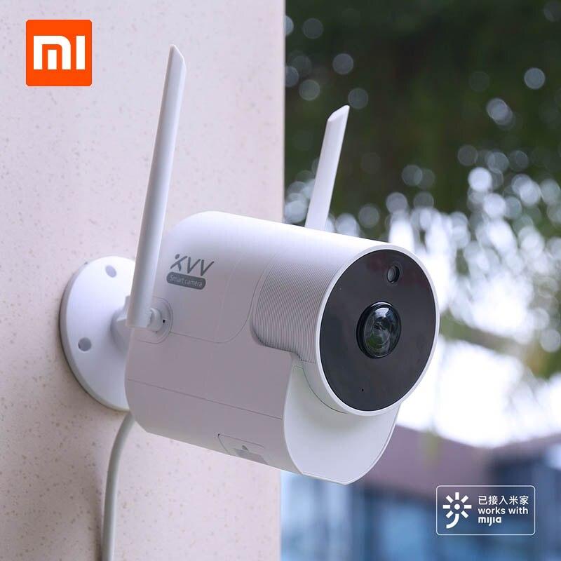 Le plus récent Xiaomi Xiaovv caméra de sécurité panoramique extérieure sans fil WIFI haute définition vision nocturne avec application Mijia