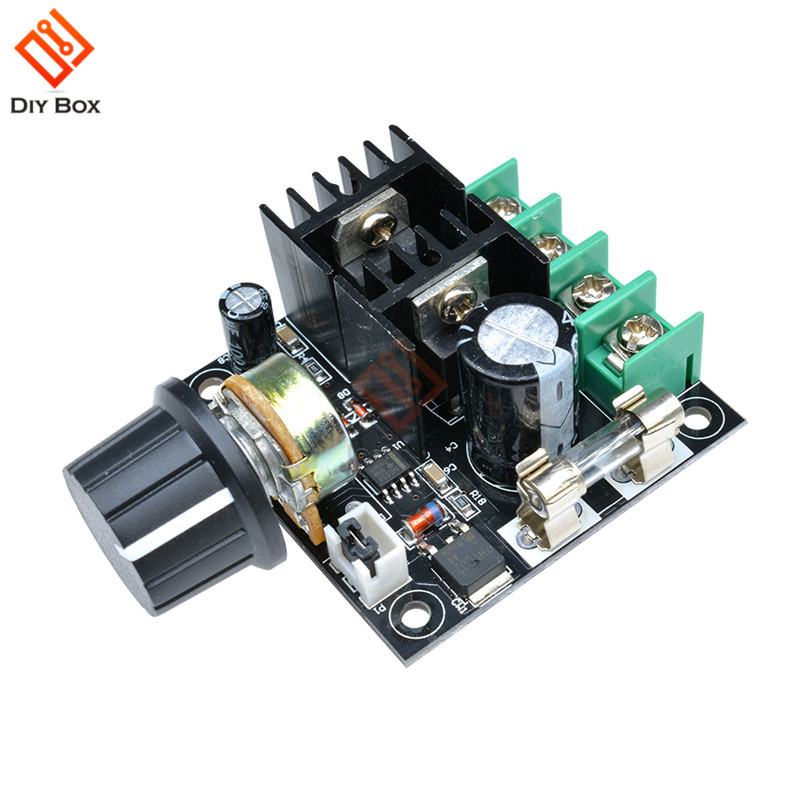 DC 12V 24V 36V Auto PWM DC Motor Speed Controller Modul Spannung Regler Bord mit Knopf Gouverneur dimmer Schalter 400W 10A DIY