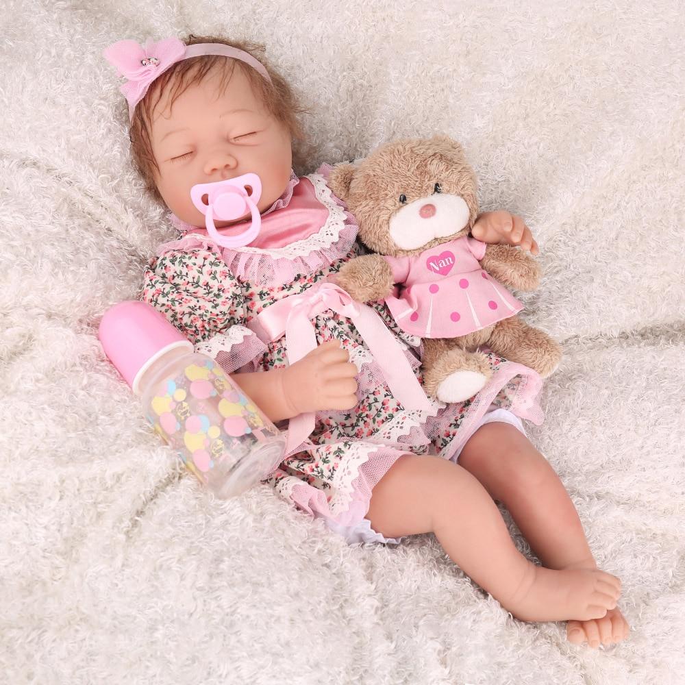 "22/"" Reborn Doll Cloth Body Doll Accessories Baby Children Dress Up Toys Handmade"