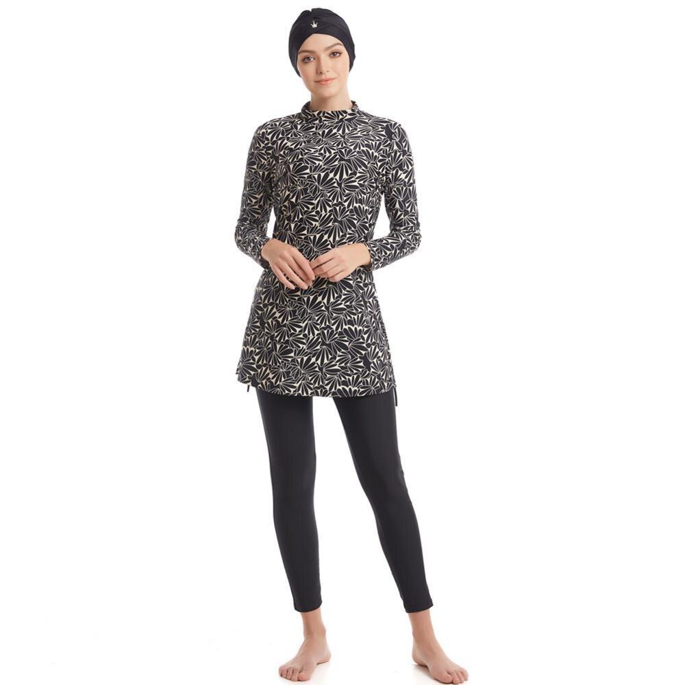 Arab Kids Girls IsIamic Full Cover Long Sleeve Muslim Swimwear Swimsuit Set New