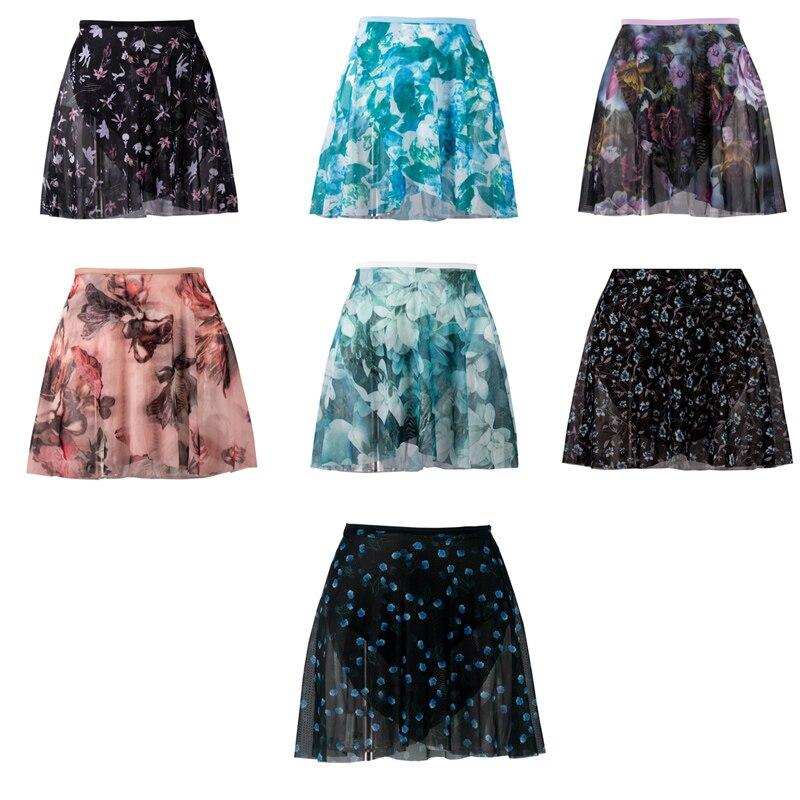 Ballet Small Apron High Quality Girl Soft Net Flower Practice Leotard Skirt Adult Floral Print Ballet Dancing Dress
