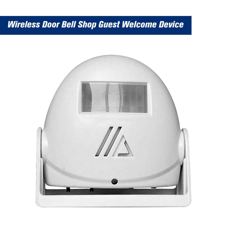 Shop Door Bell Visitor Entry Alert Door Chime PIR Motion Sensor Welcome Bell