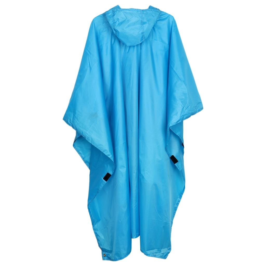 Multi-function Raincoat Poncho Cover, Hiking Rainwear One-Piece Poncho Raincoat Mat Outdoor Raincoat
