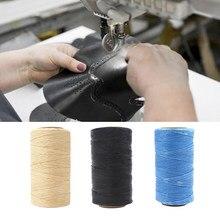 200m woskowana nić 150D płaskie nici do szycia rękodzieło DIY produkty skórzane dla rękodzieło DIY narzędzie do robótek ręcznych szycia ręcznego