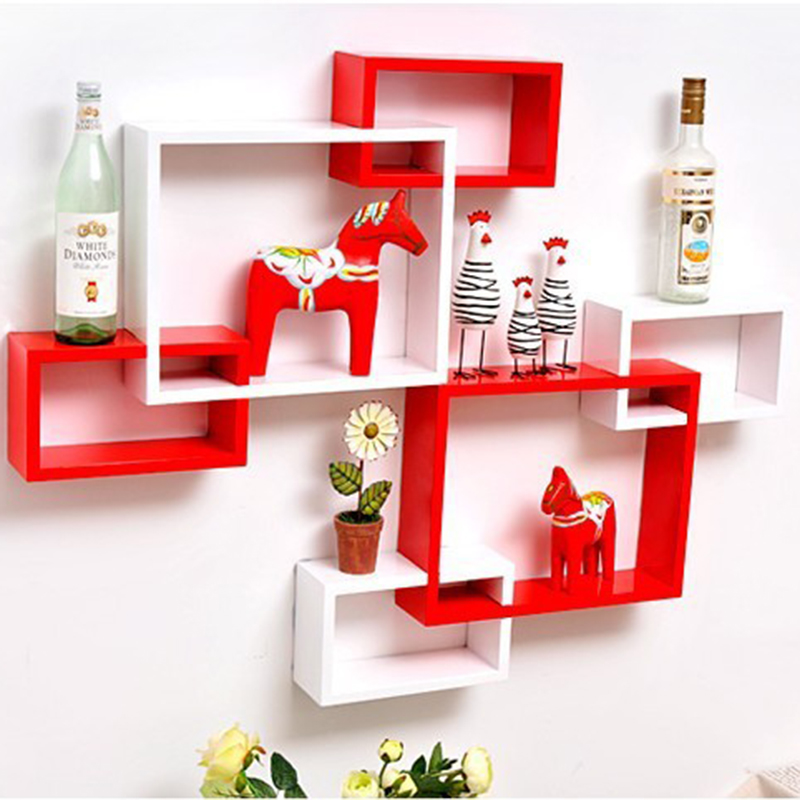 3pcs/set Korea style wooden wall shelf wall clapboard decoration Children's room toy display stand livingroom home decor