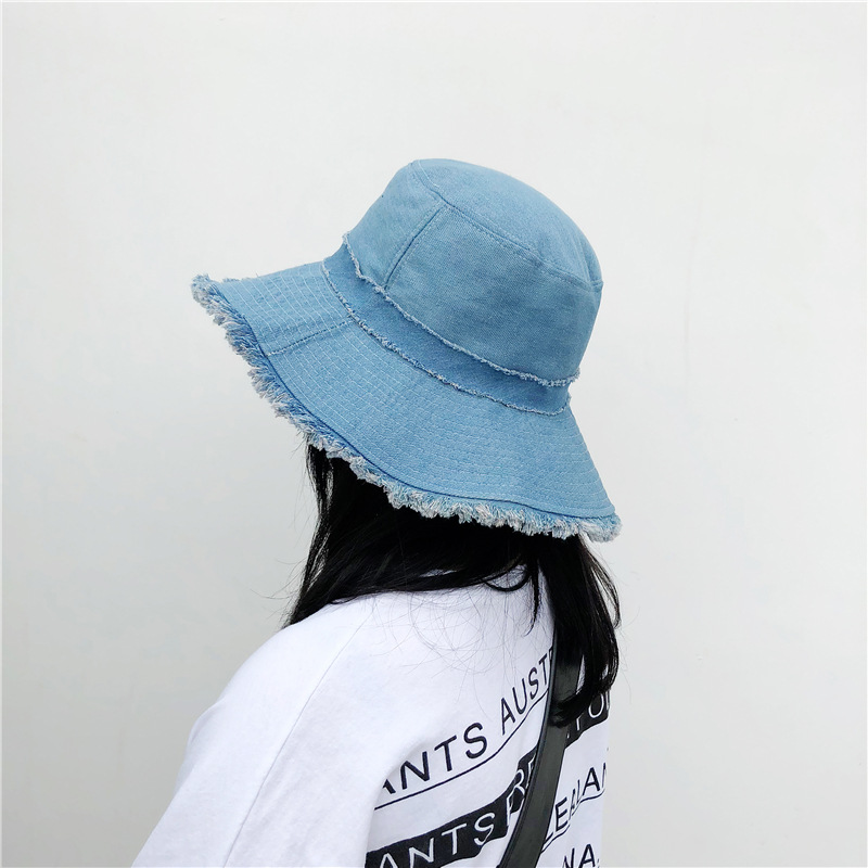 Fashion Denim Fabric Woman Sun Hats Summer Hats