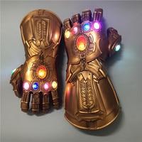 Мстители 4 танос светящиеся бесконечные перчатки косплей перчатки одежда аксессуары Marvel аксессуары для взрослых детей