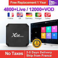 X96 MINI IPTV France Box Android 7.1 S905W France Arabic IPTV SUBTV Subscription 1 Year Turkey Portugal Italia IPTV Full HD 4K