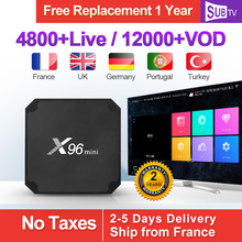 X96 MINI IPTV France Box Android 7.1 S905W Arabic SUBTV Subscription 1 Year Turkey Portugal Italia Full HD 4K