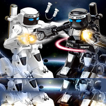 Somatosensory remote control boxing robot two-person competitive fight against intelligent robot model toy