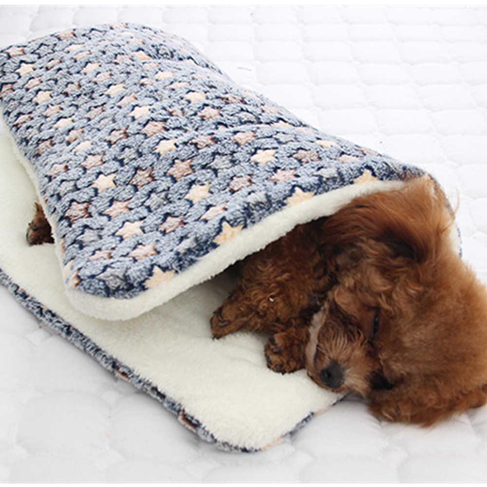 부드러운 고양이 침대 휴식 개 담요 겨울 Foldable 애완 동물 쿠션 Hondenmand 산호 캐시미어 부드러운 따뜻한 수면 매트 달콤한 꿈 침대