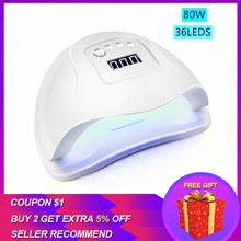 Nail Dryer For LED UV Lamp Manicure 80W High Power Sensor LCD Display Gel Polish Drying Art Tool