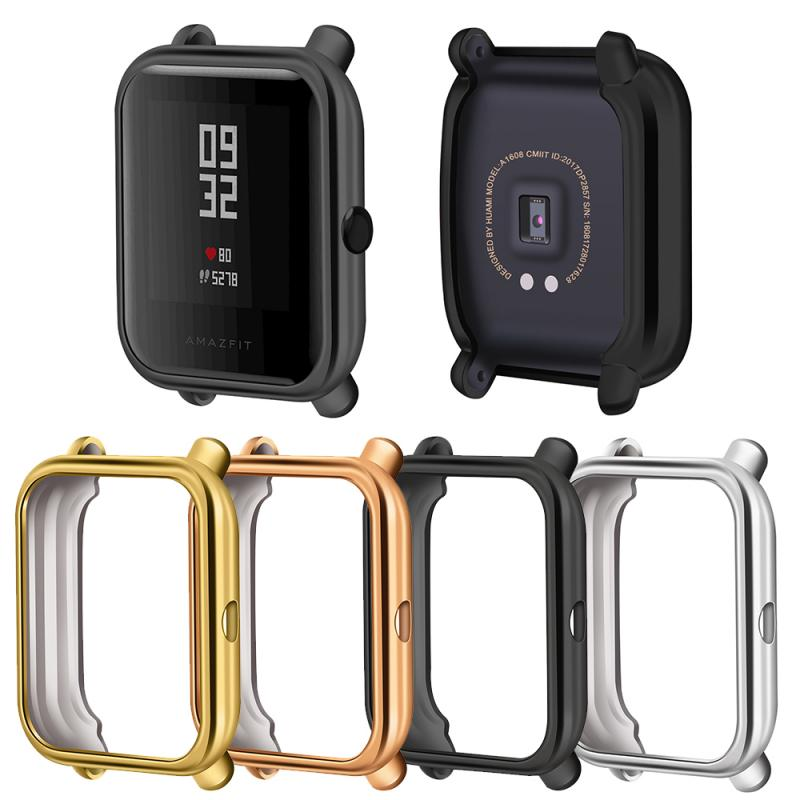 Colorful Cover Bumper For Huami Amazfit Bip Armor Case TPU Protective Cover Sport Smart Watch Plating Case Accessories