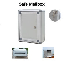 Retro European Style Letter Box Aluminum Suggestion Mailbox Comment Outdoor Lockable Secure Wall Mount Office Home Boxes