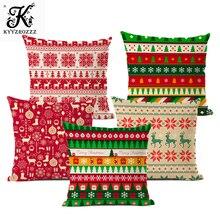 45x45cm Halloween Christmas Cushion Cover Throw Pillows Case Cotton Linen Tree New Year Decorative Pillows For Sofa funda cojin цены