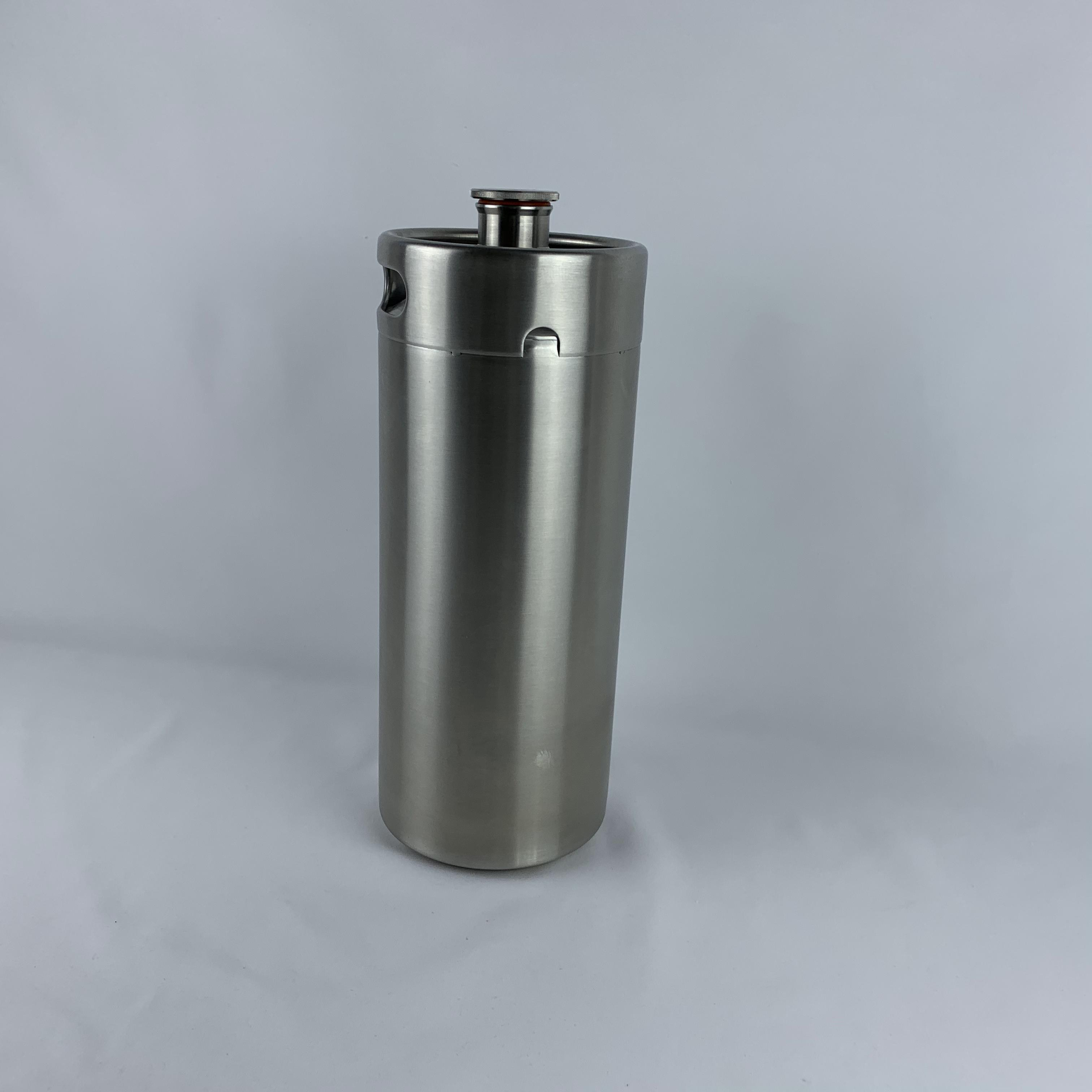 Party 4L pressurized growler craft made of stainless steel portable and polished 4L growler tap mini keg spear dispenser image