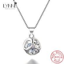 Женское ожерелье из серебра 925 пробы с квадратным кулоном