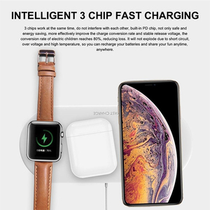Image 5 - 3 ב 1 10W אלחוטי מטען תחנת Stand Pad עבור iPhone Apple שעון Airpods טעינת Dock Stand אלחוטי טעינה כרית תחנה