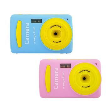 2 4-Cal ekran HD Mini dzieci aparat cyfrowy karta mała lustrzanka Cartoon kolor Puzzle aparat fotograficzny dla dzieci aparat fotograficzny aparat cyfrowy tanie i dobre opinie RICH Naprawiono ostrości Elektroniczny stabilizacja obrazu Brak Hd (1280x720) CMOS 1 1 8 cali 16-50mm 5 0MP DC06 Karta sd