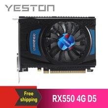 Yeston Radeon RX550 4GB GDDR5 PCI Express 3.0 DirectX12 วิดีโอกราฟิกการ์ดกราฟิกภายนอกสำหรับเดสก์ท็อปคอมพิวเตอร์
