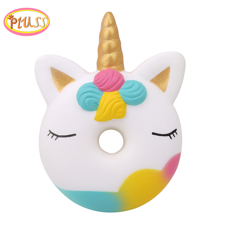 Jumbo Kawaii Colorful Donut Unicorn Squishy Doll Slow Rising Stress Relief Squeeze Toys For Baby Kids Charismas Gift  For Kids