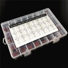 24 valores 180 pces 250 v 1nf a 3.3 uf (102 ~ 335) cbb metal filme capacitores sortimento kit com caixa de armazenamento