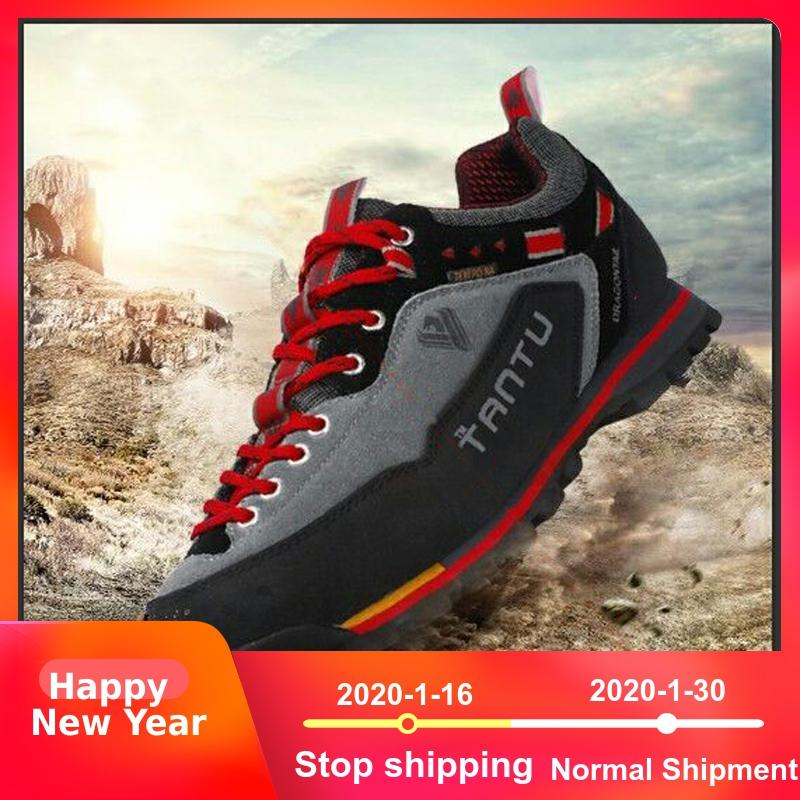 Men outdoor shoes Waterproof Breathable Leather woodland climbing Hiking Shoes trekking shoes male mountain hiking Boots