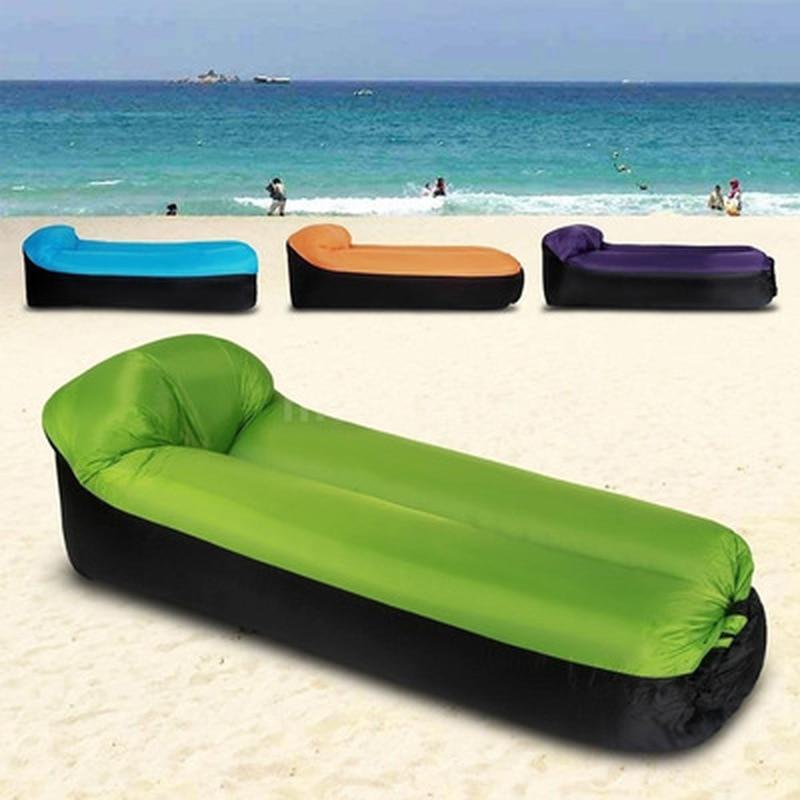 Infaltable Air Sofa Bed Sleeping Bag Lazy Beach Bags Laybag Lightweight Pillow Camping Lounge Chair Sleeping Bag Beach XA135+A