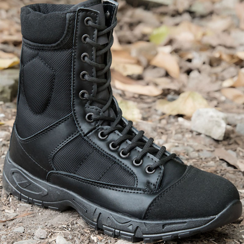 New Men Tactical Military Boots Shoes Autumn Comfortable Breathable Black Combat Army Work Shoes Botas Mens Boots Wear-resistant