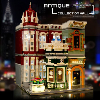 MOC Street View Creator Series Antique collection shop Green Grocer Model Building Blocks Bricks Compatible lepining 10185 Toys 2
