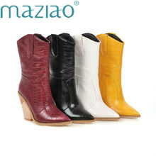 Cowboy bottines white boots bottines pour les femmes boots femme bottines talons santiags femmme botte a talon ankle boots for women botte femme cuir de luxe botines(China)