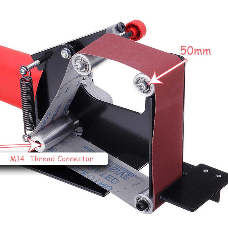 metallo M-10 attacco levigatrici a nastro larghezza 50 mm lucidatura acciaio inossidabile Accessori per levigatrici a nastro abrasivo levigatrice con adattatore per legno rettifica