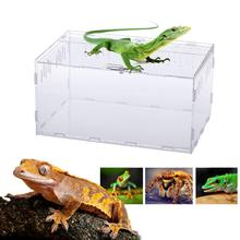 New Acrylic Terrarium Spider Breeding Box Reptile Feeding For Climbing Pet Snake Lizard Scorpion Centipede