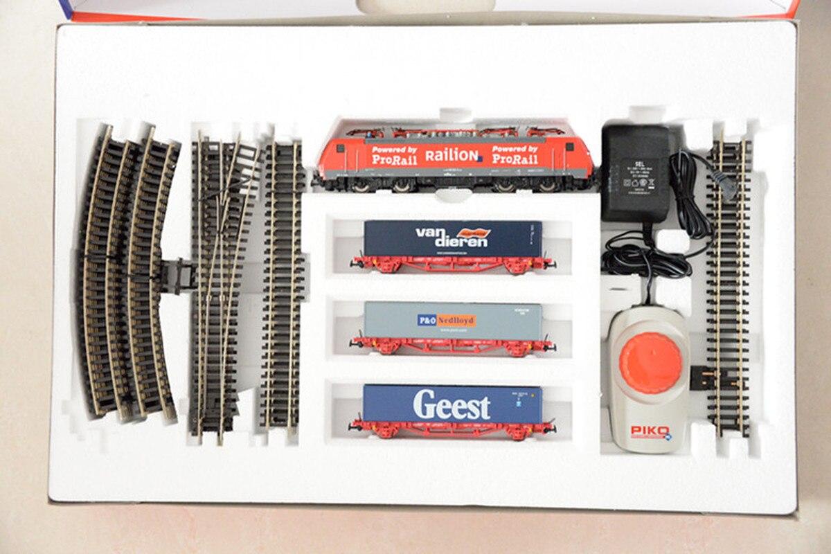 Набор немецких моделей поезда BR189 Локомотив: контейнерный вагон * 3 + трек + контроллер Хо пропорции детские игрушки - 3
