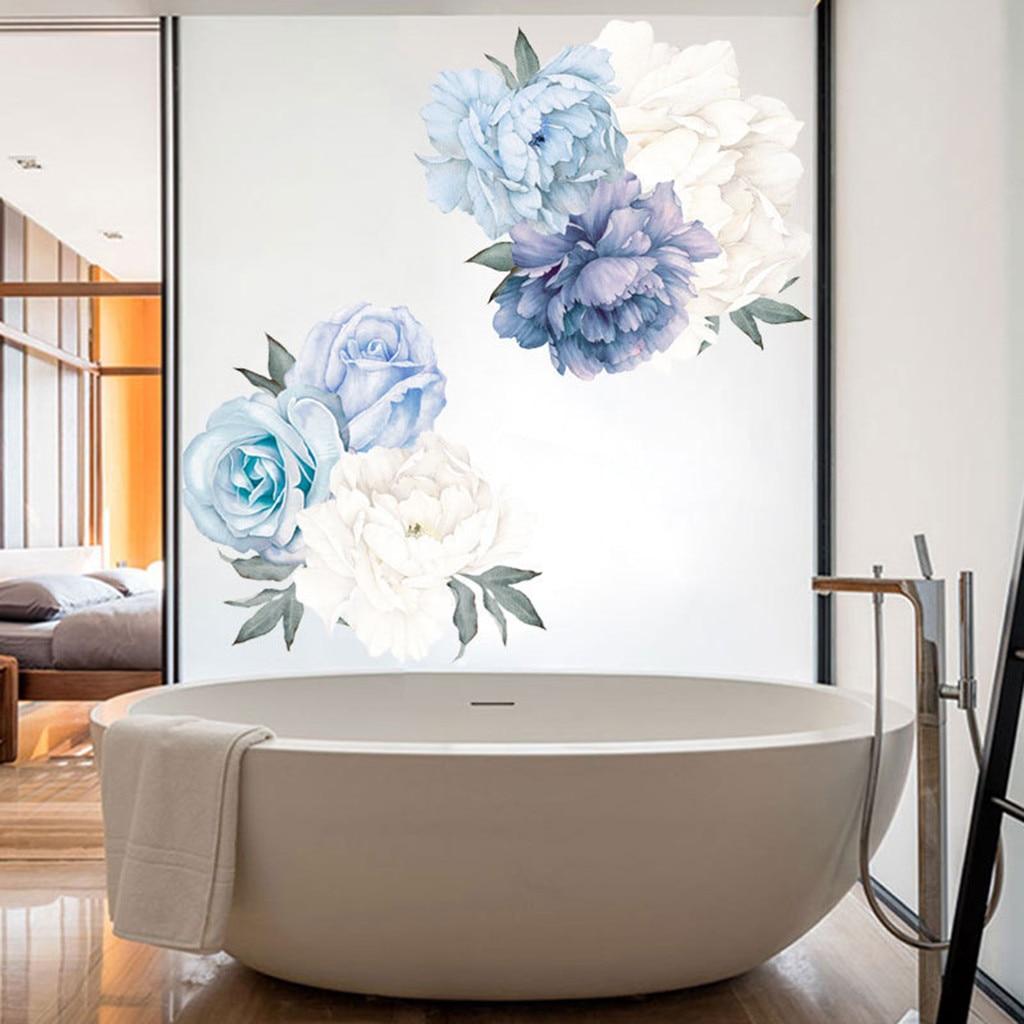 Hágalo usted mismo cálido Flores Mariposa Extraíble Pegatinas De Pared Mural artístico Ciruela Flor Moderna