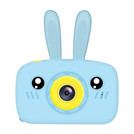 Мультяшная цифровая камера, детские игрушки, креативная развивающая игрушка для детей, аксессуары для обучения фотографии, подарки на день рождения, детские товары - Цвет: Blue bunny