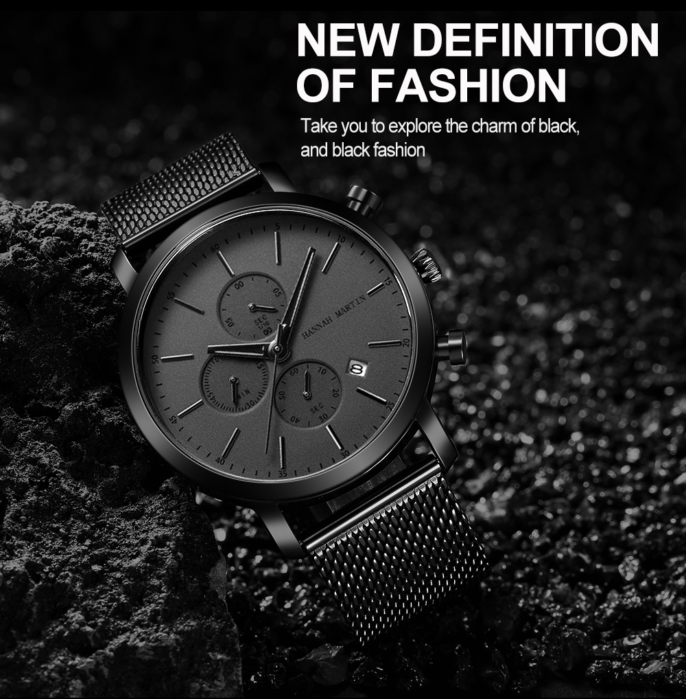 Men Watche Top Brand Fashion multifunction small dial Stainless Steel Mesh business Waterproof Wristwatches Relogio Masculino H0812d161ccab42dfad6ef23ea7e76e23J