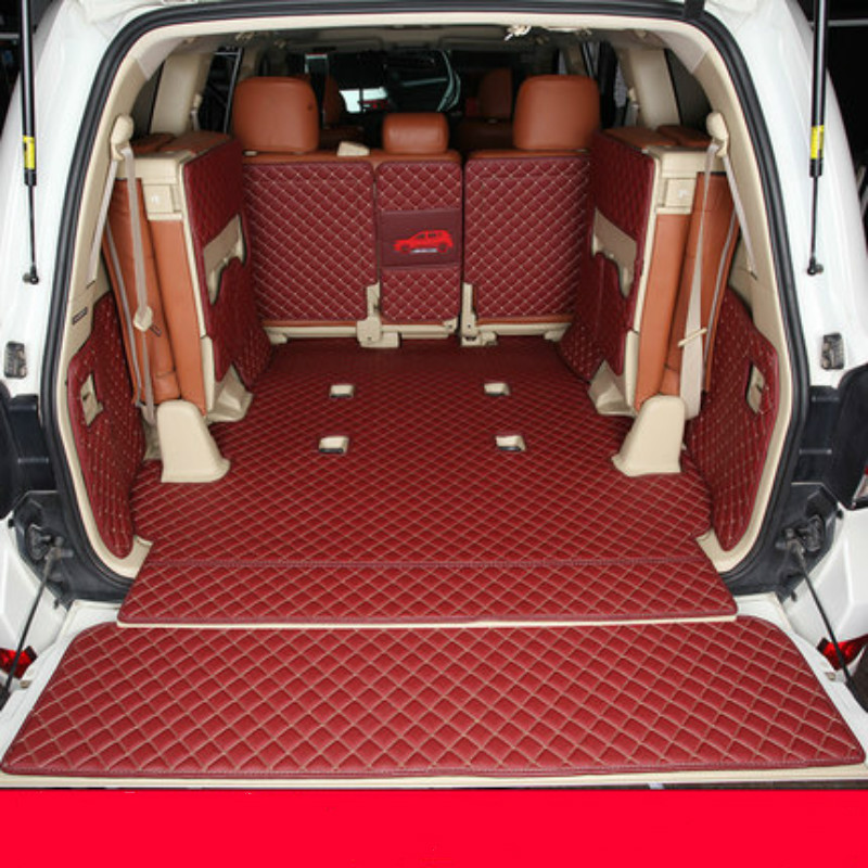 Full <font><b>Cover</b></font> TPE XPE NonSlip 3D Waterproof Boot Carpets Special Car Trunk Mats for <font><b>2007</b></font>-2018Year <font><b>Toyota</b></font> Land Cruiser 5/7/8/9 <font><b>Seats</b></font> image