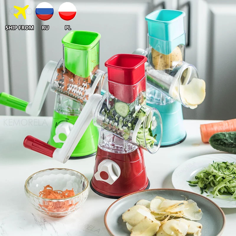 New Manual Vegetable Cutter Slicer Multifunctional Round Slicer Potato Cheese Kitchen Gadgets Multi-Function Kitchen Accessories